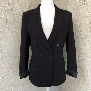BCBG Classic Black Double Breasted Blazer Small